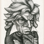 Beethoven caricature by anne marie steen petersen