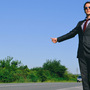 Hitchhiking in a suit1