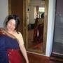 Claire in a sari