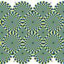 Optical illusion spinning spirals