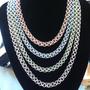 Anodised aluminium necklaces