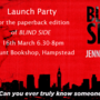 Bs paperback launch banner