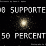 200 supporters and 50 percent