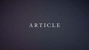 ARTICLE Issue One Collector's Edition