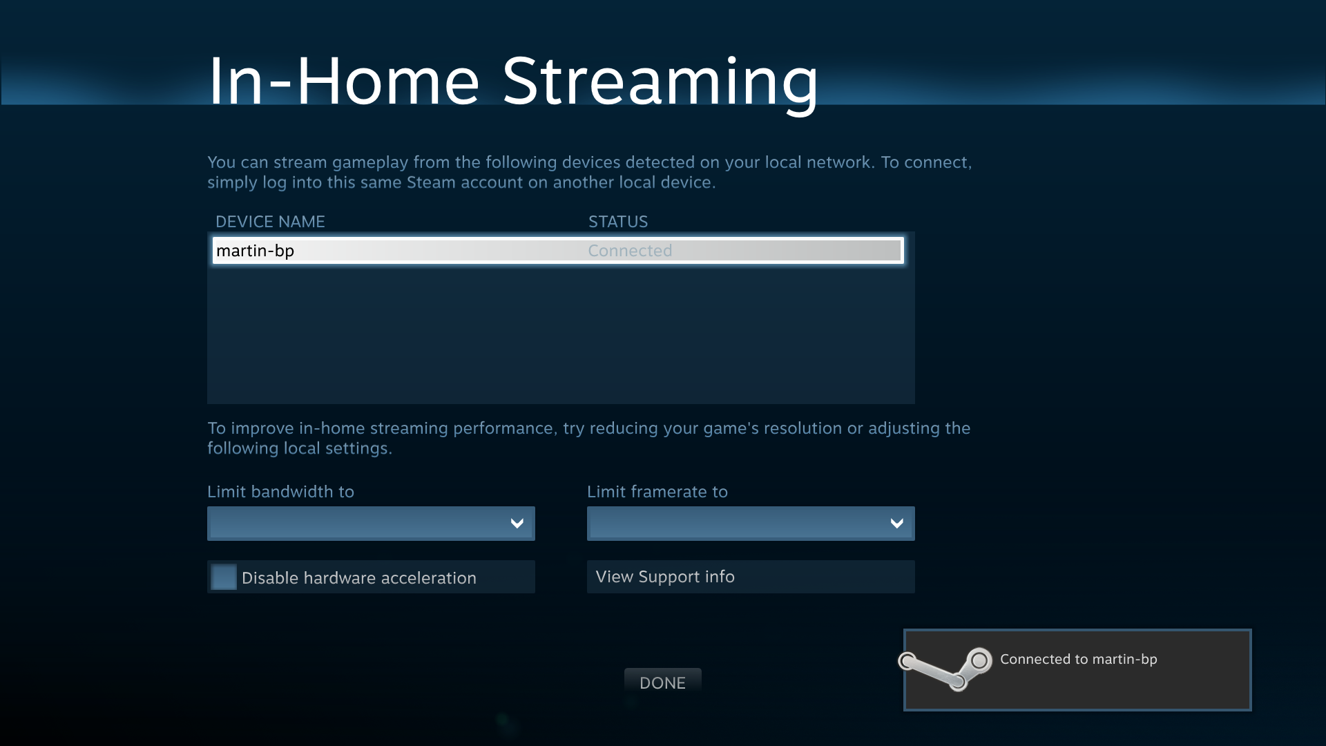 in-home streaming