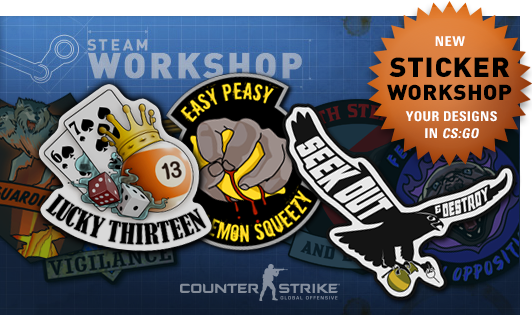 Counter-Strike:Global Offensive Stickers Workshop CSGO