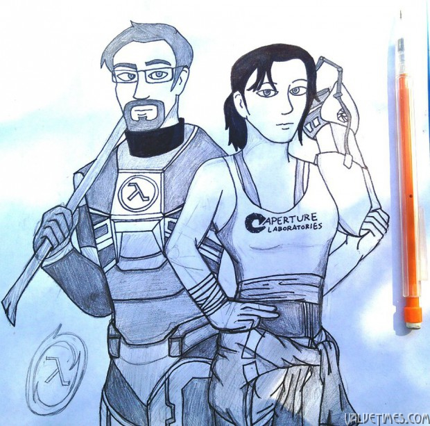 Лучшие арты марта - Portal Half-Life