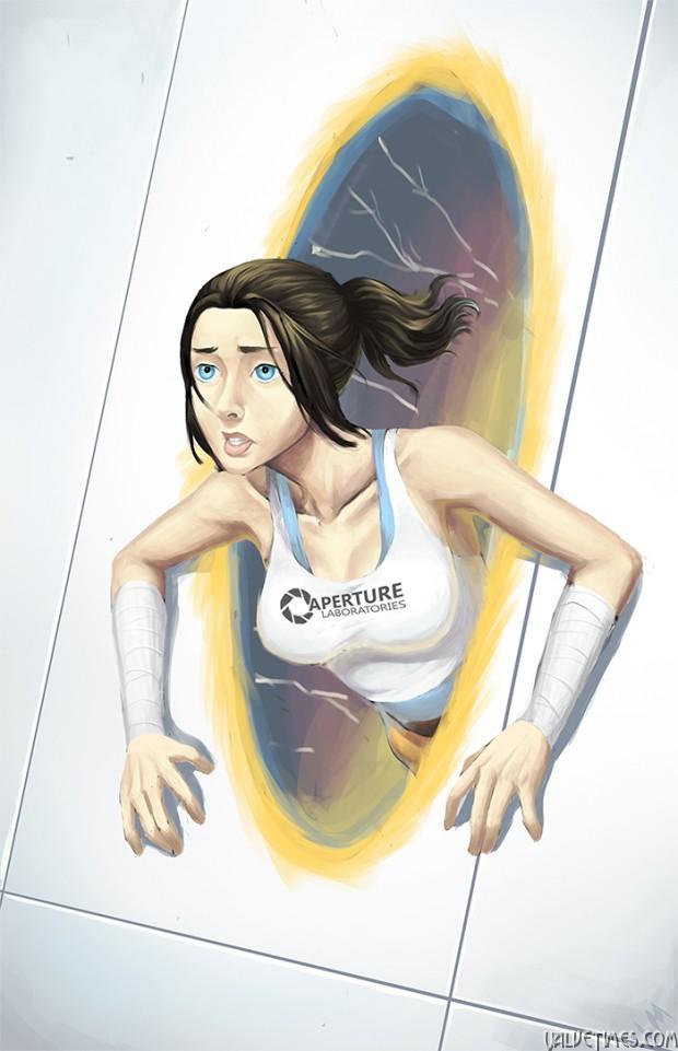 лучшие арты апреля Portal 2