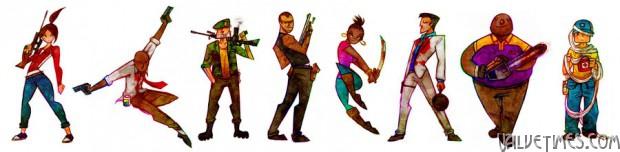 Герои Left 4 Dead иллюстрации