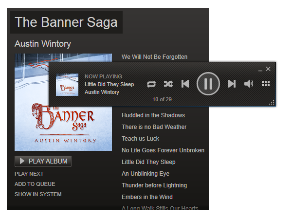 Steam Music Beta