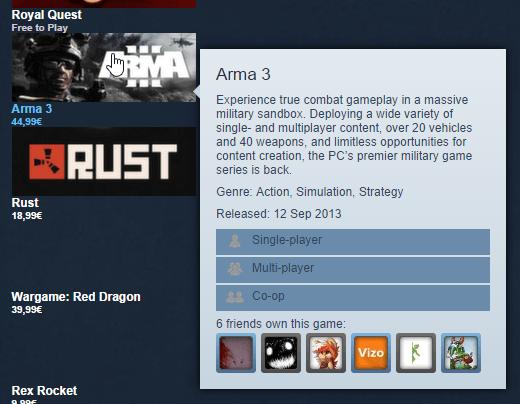 будущее изменение дизайна Steam (основной цвет - синий)