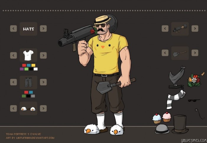 TF2 Soldier Dressup game