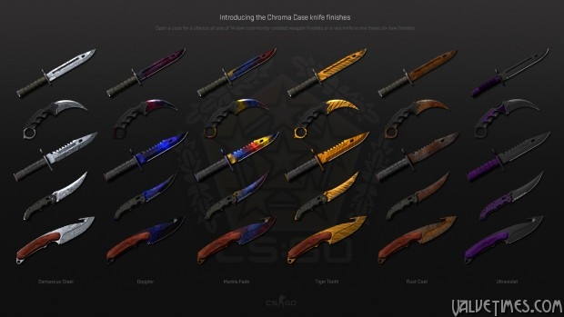 CSGO Chroma Case knives