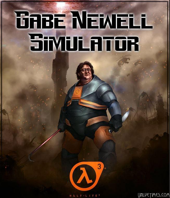 Симулятор Гейба Ньюэлла Gabe Newell half-Life 3