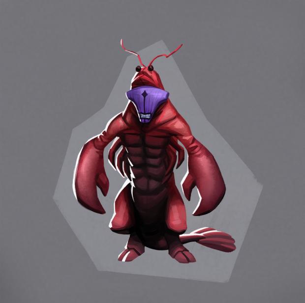 Dota 2 Faceless Lobster Безликий Лобстер