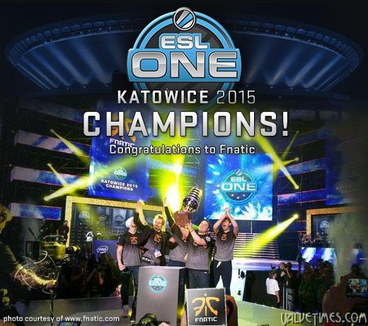 Победители ESL One Katowice 2015 Fnatic