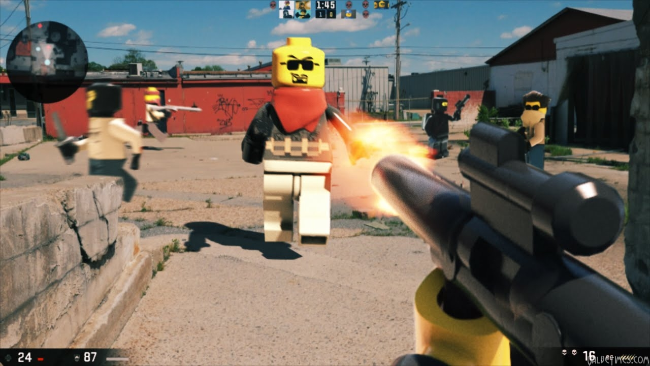 Portal, CS:GO и другие шутеры от первого лица в мире Lego