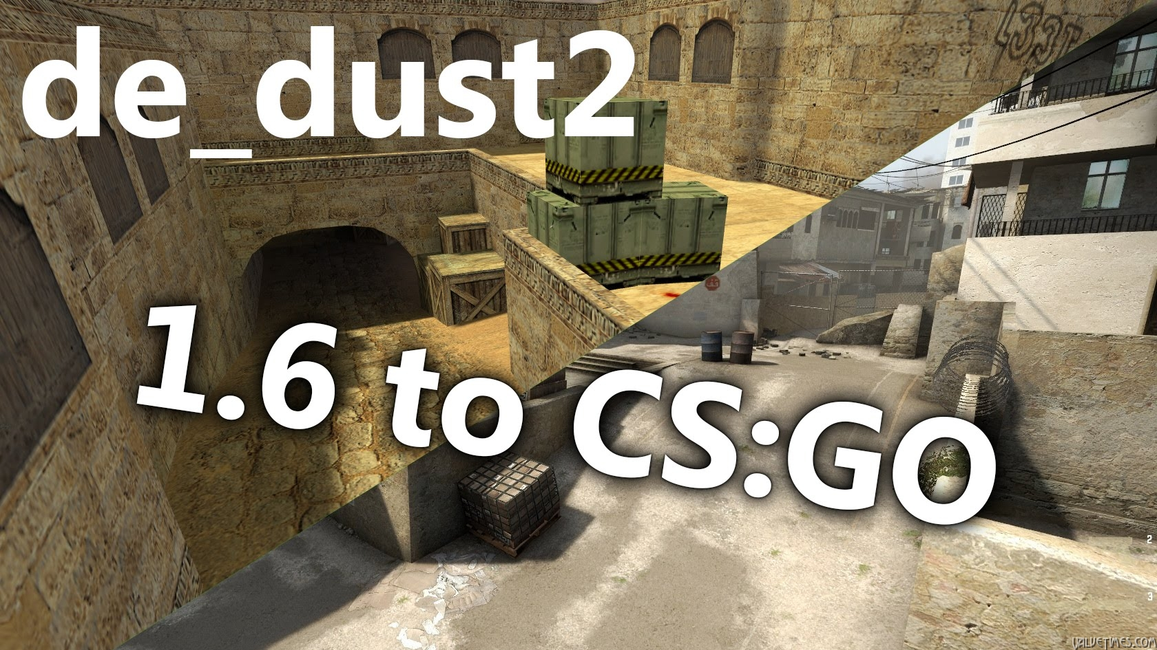 История изменений карты de_dust2 — от CS 1.6 до CS:GO