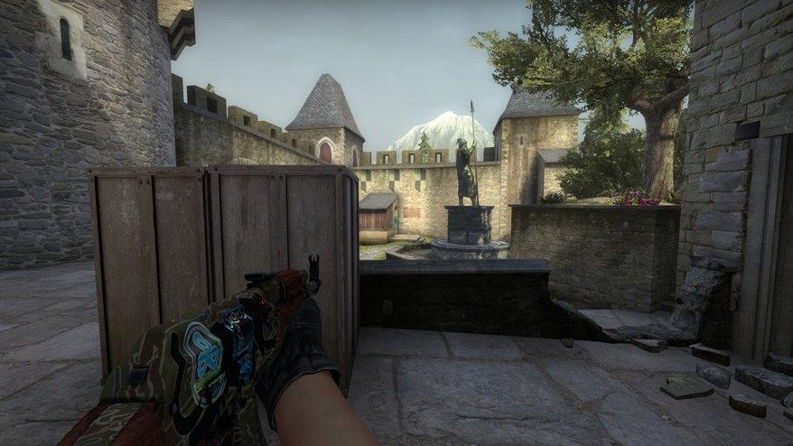 CS:GO. Приемы атаки на карте Cobblestone