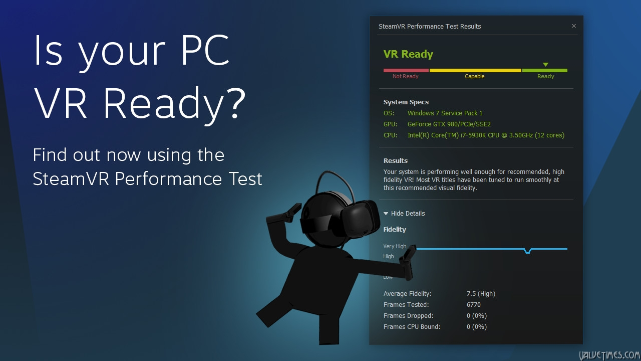 SteamVR Perfomance Test. Valve.