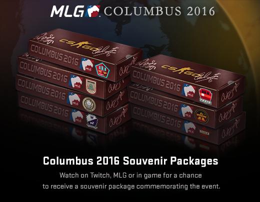 MLG Columbus 2016 сувенирные пакеты