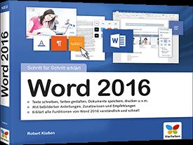 Word 2016 - Schritt für Schritt erklärt