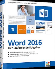 Word 2016 - Der umfassende Ratgeber