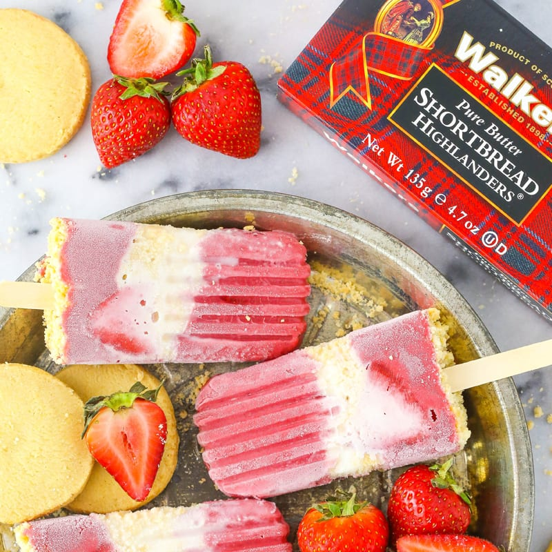 Strawberry Shortcake Ice Lollies