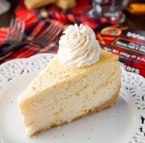 Whisky Eggnog Cheesecake