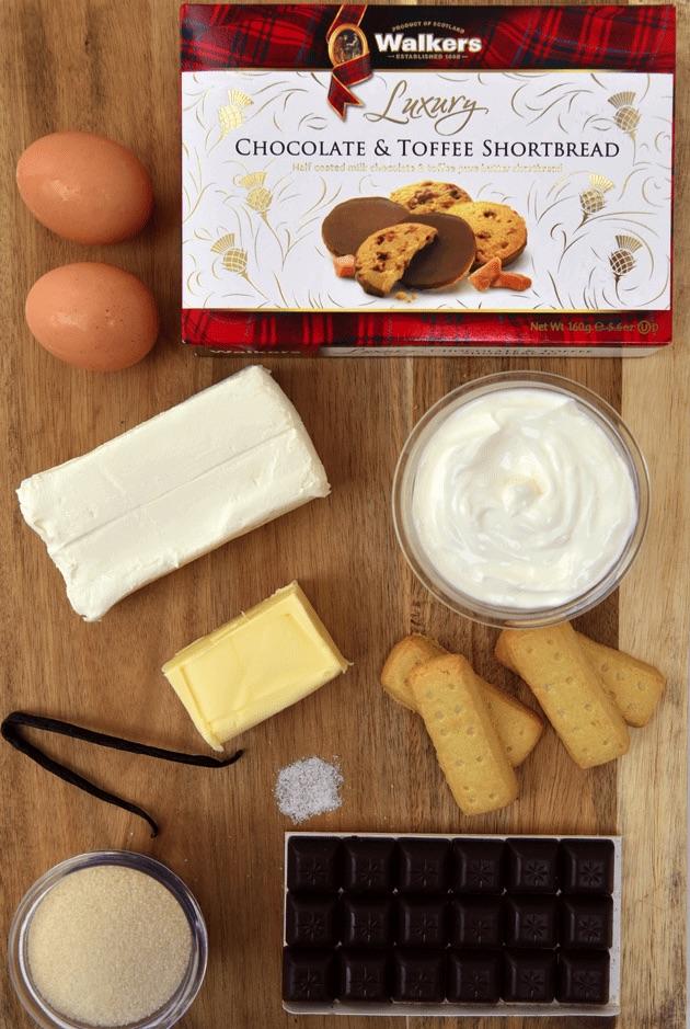 Chocolate and Toffee Shortbread Cookies Ingredients