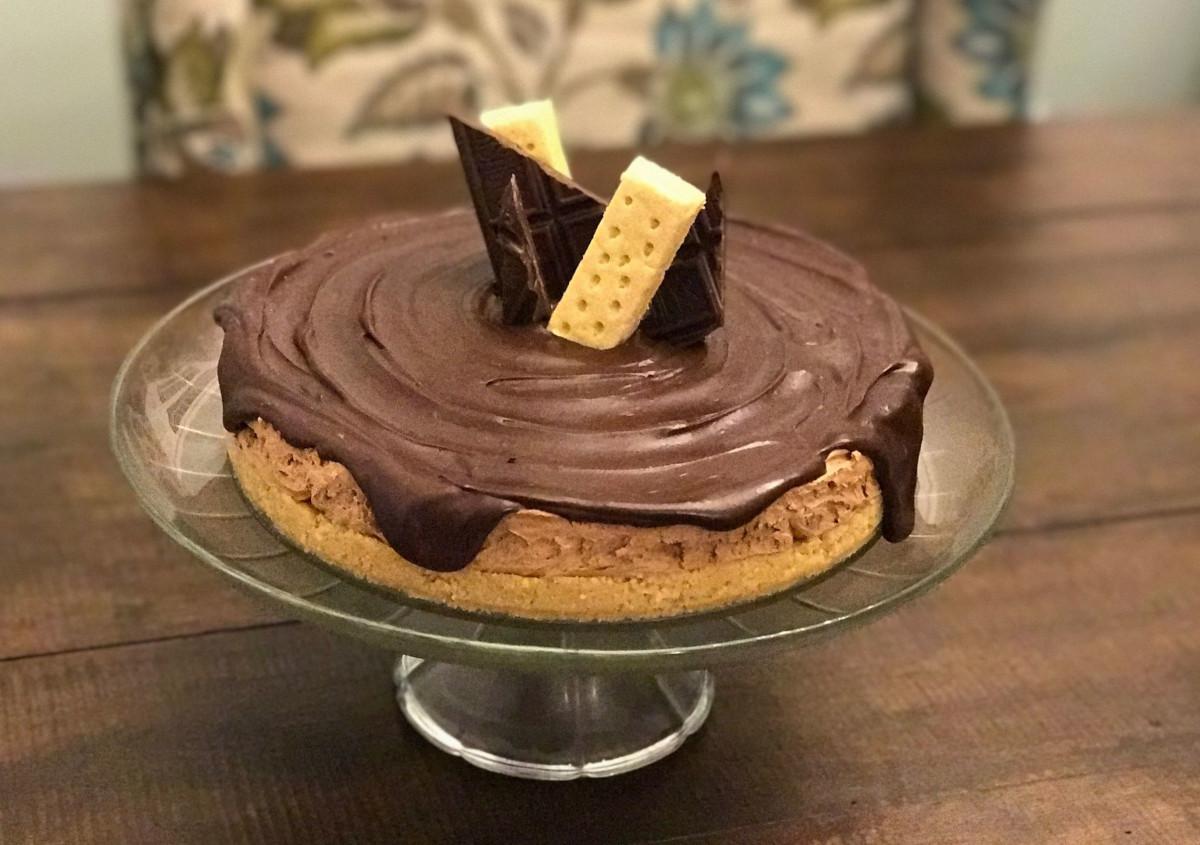 Dark Chocolate Mocha Cheesecake