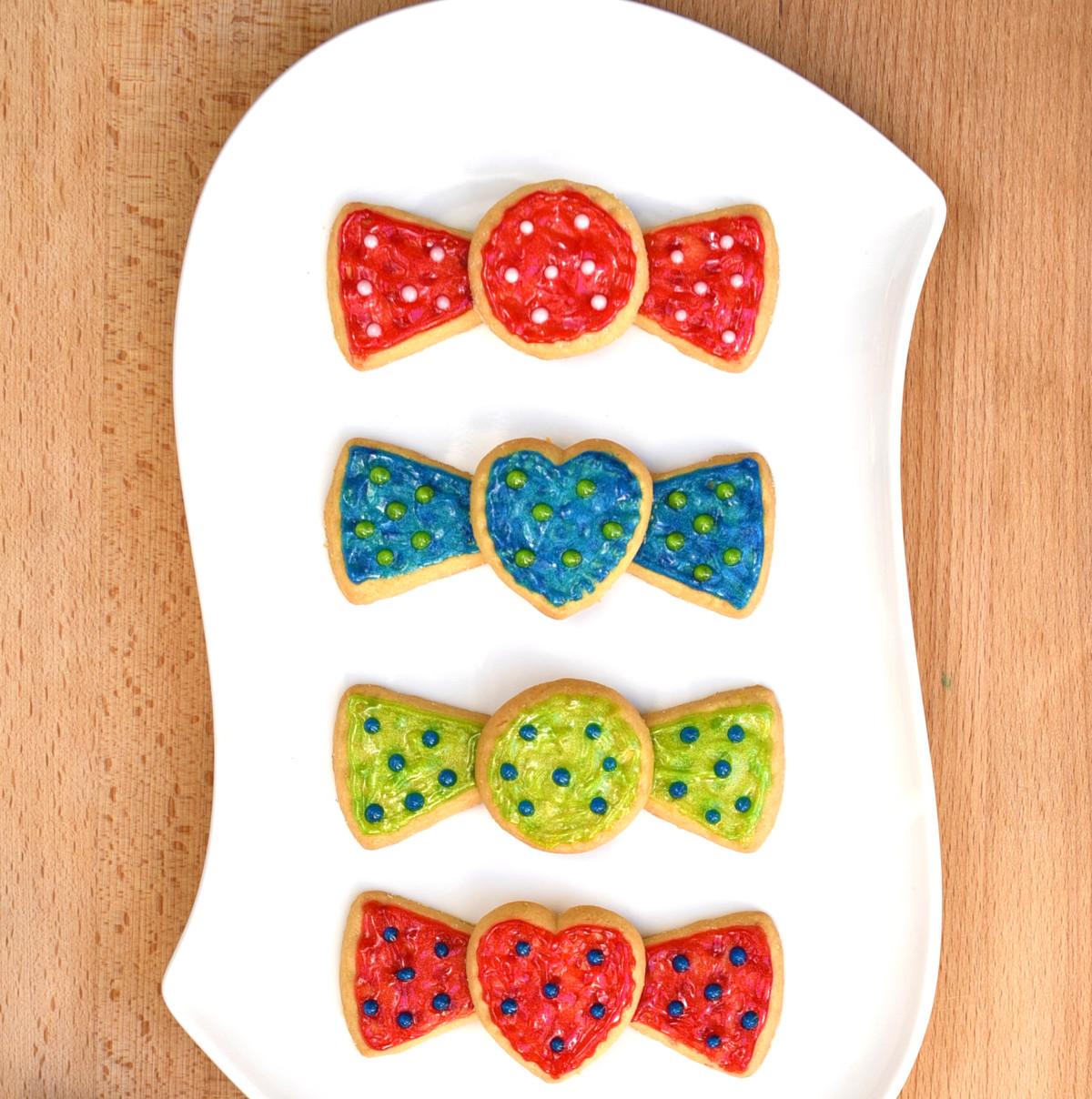 Bow Tie Shortbread Cookies