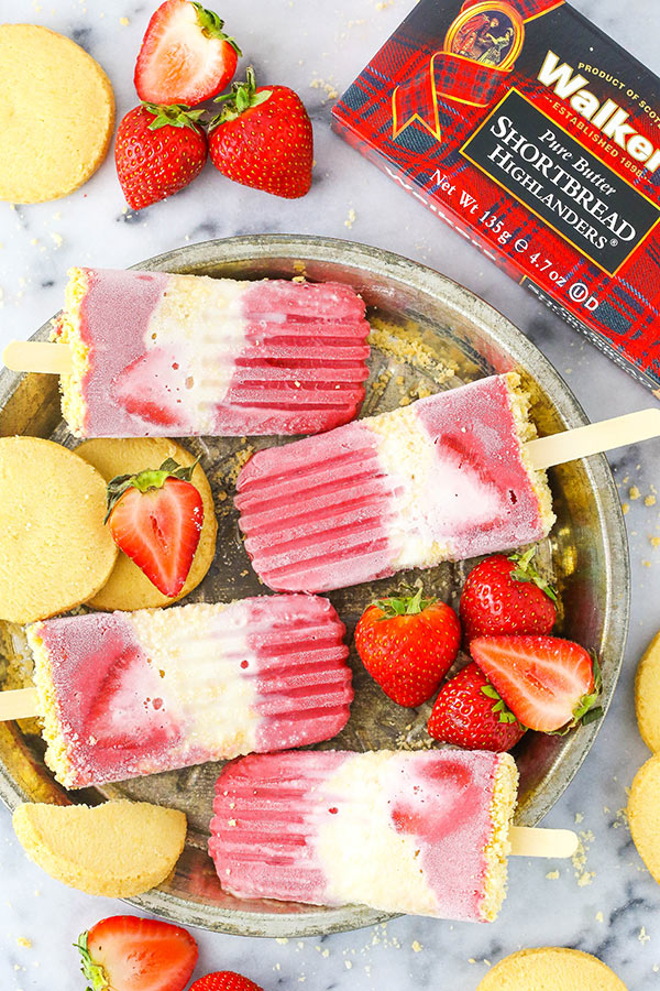 HOW TO MAKE STRAWBERRY SHORTCAKE POPSICLES with walkers