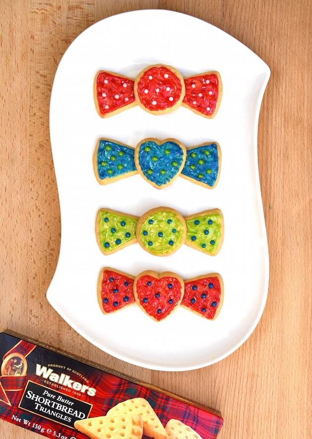 Shortbread Bow Tie Cookies