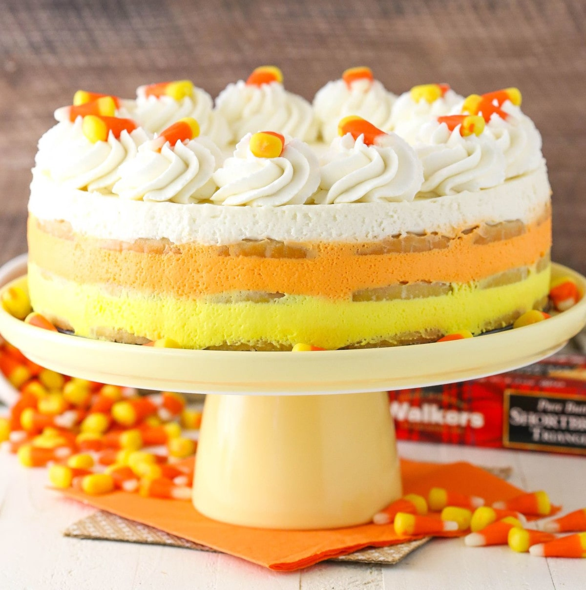 Candy Corn Icebox Cake