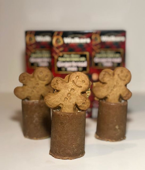 gingerbread men walkers eggnog shot glasses