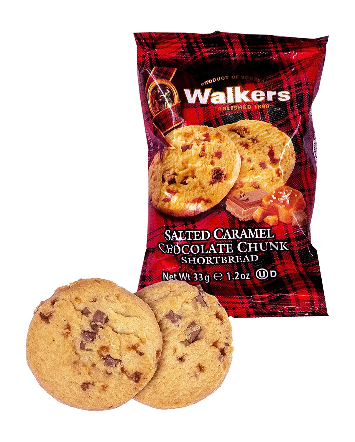 2 Pack Salted Caramel & Chocolate Chunk Shortbread – 20 ct.