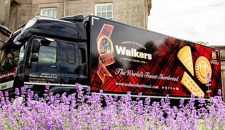 Walkers Shortbread delivery truck