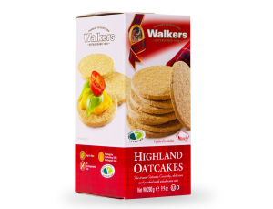 Highland Oat Crackers in a box