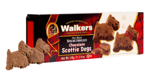 Chocolate Scottie Dogs Shortbread Cookies