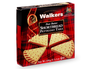 Petticoat Tails Shortbread broken into triangles