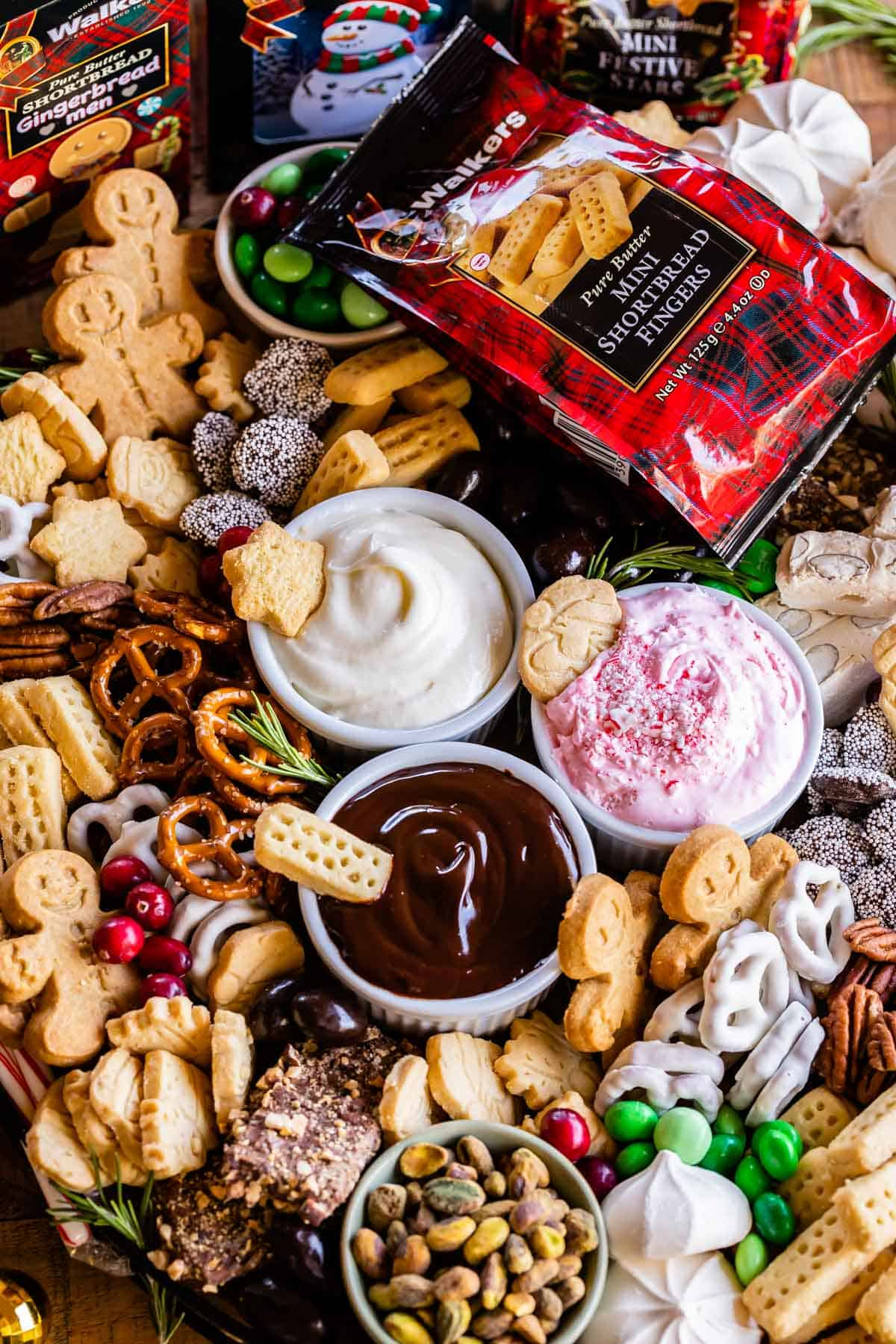 Dessert Charcuterie Board with Walkers Shortbread Cookies