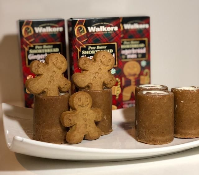 Gingerbread Men Cookie Shot Glasses