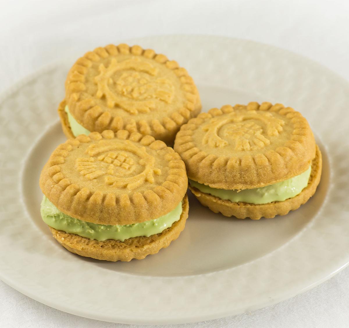 Green Tea Ice Cream Sandwiches