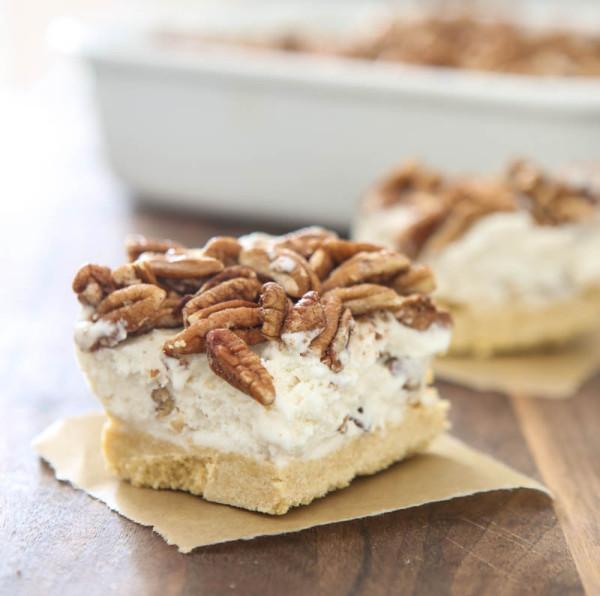 Butter Pecan Ice Cream Bars