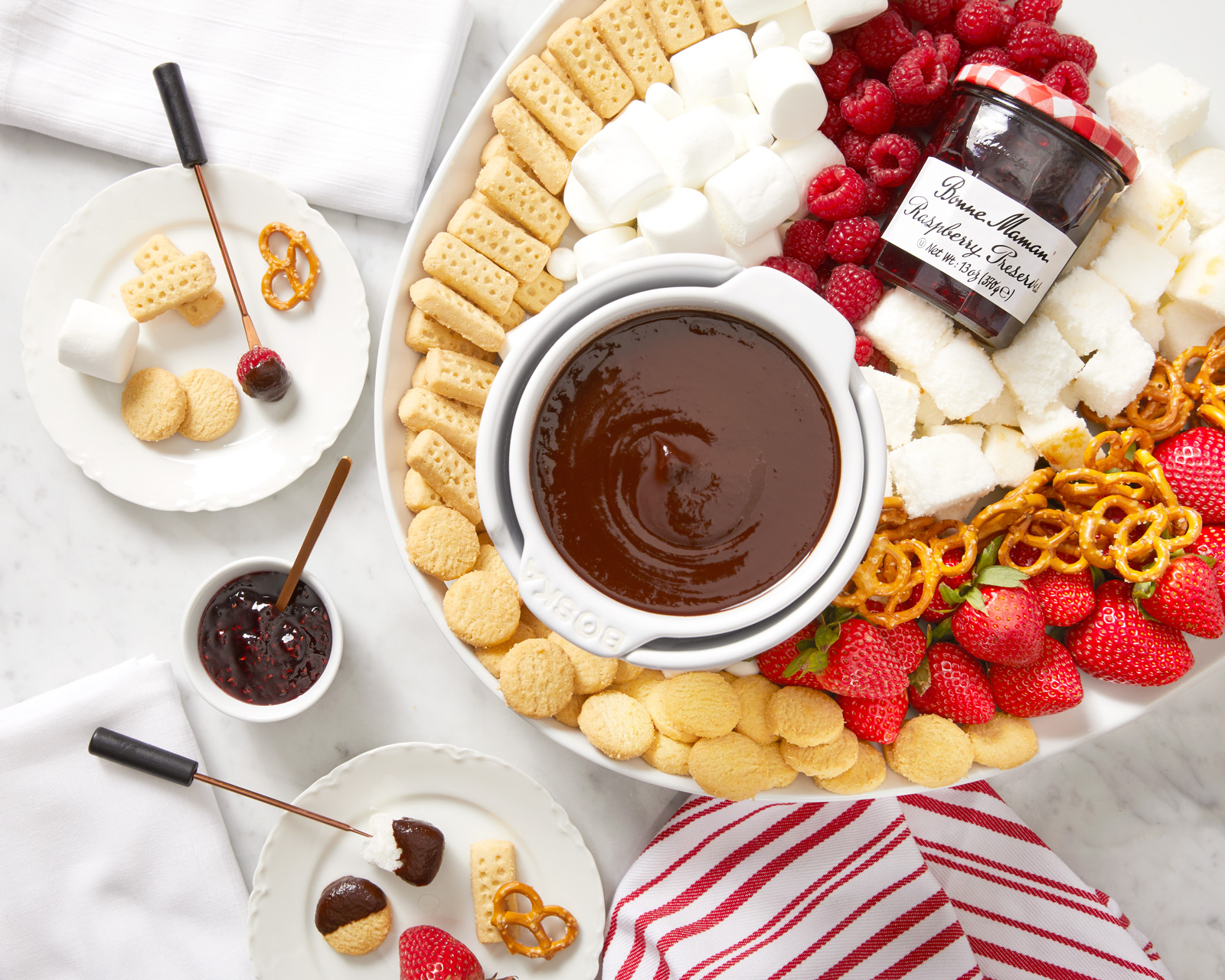 A Sweet Indulgence: Chocolate Raspberry Fondue and Walkers Shortbread
