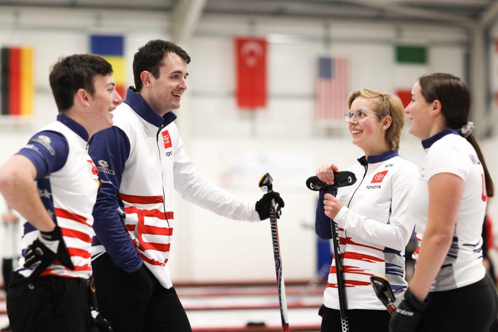 Eli Clawson, Hunter Clawson, Katherine Gourianova, Sydney Mullaney, USA, © WCF / Stephen Fisher