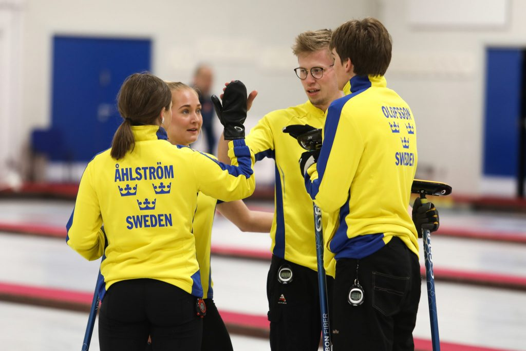 Axel Sjoeberg, Linda Stenlund, Simon Olofsson, SWE, Vilman Aahlstroem, © WCF / Stephen Fisher