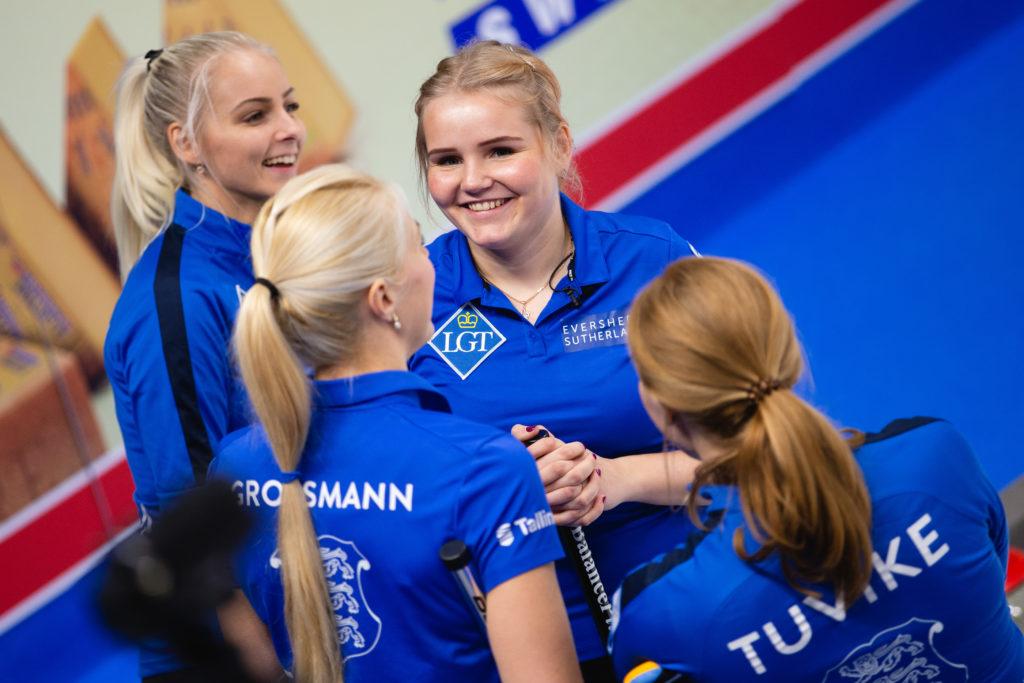 Erika Tuvike, Heili Grossmann, Kerli Laidsalu, Marie Turmann, est © WCF / Celine Stucki