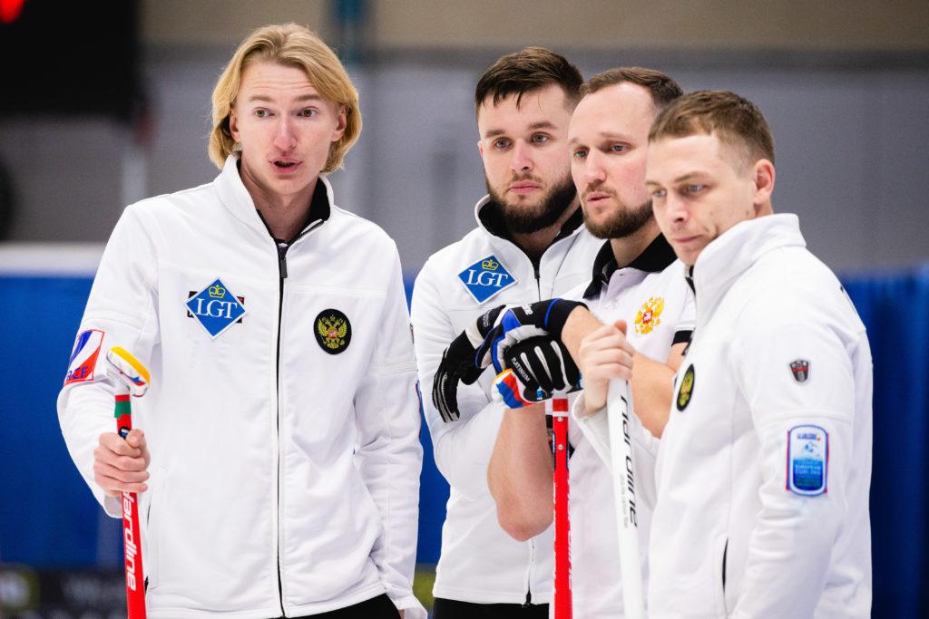 Aleksey Timofeev, Aleksey Tuzov, Anton Kalalb, Sergey Glukhov, rus © WCF / Celine Stucki